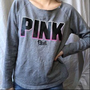3/$30 PINK Slightly Off The Shoulder Sweatshirt